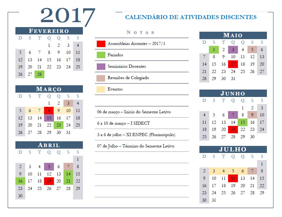 calendario discente